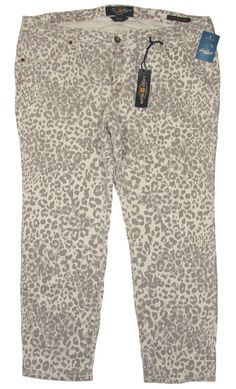 NEW Lucky Brand Womens Jeans GINGER Capri Stretch Denim Crop Plus Size 18W $109 #LuckyBrand #CapriCropped