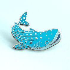 Whale Shark Charity Enamel Pin – Natelle Draws Stuff