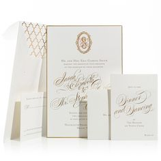 beautiful wedding invitations in blush and gold set the tone for a romantic sunset wedding