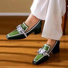 Pointed Toe Block Heel, Block Heel Loafers, Heeled Loafers, Loafer Shoes, Block Heels, Women's Loafers, Shoes Heels Pumps, Low Heel Shoes, Stiletto Pumps