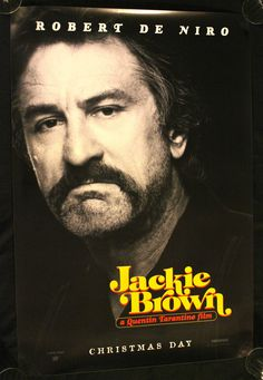 JACKIE BROWN 1997 Movie Poster 27x40 FREE SHIP!!! #QuentinTarantino #MoviePoster
