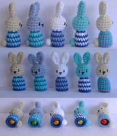 Es un Mundo Amigurumi... Patrones: Conejos Expulsa Huevos.Patrón Gratis. Este es el link que funciona http://esunmundoamigurumi.blogspot.com.es/2013/03/el-patron-para-los-conejos-expulsa.html