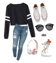 """Simple"" by tenchita-japonesa on Polyvore featuring Converse, Yves Saint Laurent, women's clothing, women, female, woman, misses and juniors"