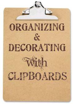 Leuke ideeën met clipboards. En te koop bij Woordkunsten!