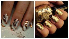 Дизайн ногтей: маникюр с блестками