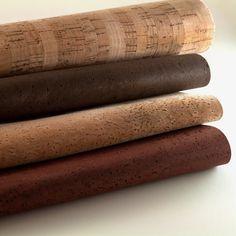 Cork Fabric Ecofriendly Vegan Brown Color 0.5 x 0.5 von Niuluk, $12.90