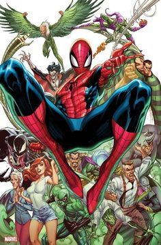 Marvel Comics. Comic Book Artwork • Spider-Man by J Scott Campbell. Follow us for more awesome comic art, or check out our online store www.7ate9comics.com Marvel Comic Books, Comic Books Art, Comic Art, Marvel Comics, Book Art, Marvel Dc, Amazing Spiderman, Spiderman Pics, Spiderman Drawing