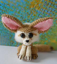 Ferdinand  little fennec fox crocheted amigurumi by dodigurumi, $26.00