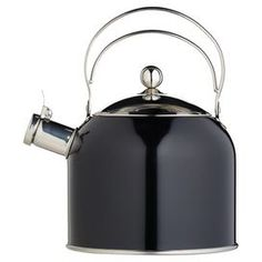 Classic Whistling Kettle in Black