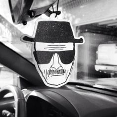 "Breaking Bad Heisenberg Air Freshener / AMC's Breaking Bad may be history, but Walter ""Heisenberg"" White will live on forever in your memories.  http://thegadgetflow.com/portfolio/breaking-bad-heisenberg-air-freshener/"