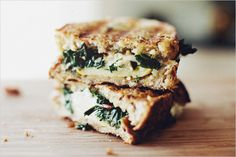 sauteed swiss chard and gruyere grilled cheese via sprouted kitchen