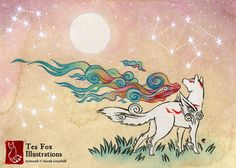 A Floating Island in the Sky — teafoxillustrations: Amaterasu. 2017. The...