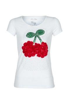 T-shirt print cerise froufrou
