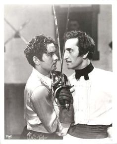 "TYRONE POWER & BASIL RATHBONE ""The Mark of Zorro"".  Sometimes I rewatch just this scene - just because."