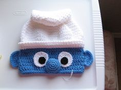 Child Smurf-Inspired Character Hat Crochet Handmade Crocheted New. $24.99, via Etsy.