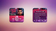 Mini Music Player UI on Behance