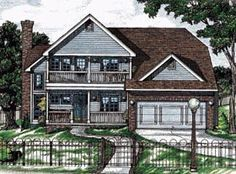 Country House Plan 68770 Elevation