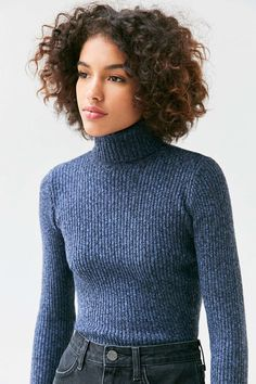 BDG Cassandra Ribbed Turtle Neck Sweater - Urban Outfitters