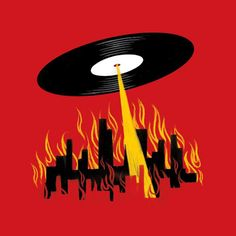 Vinyl Comeback, an art print by Jim Tierney Vinyl Music, Dj Music, Vinyl Art, Vinyl Records, Dj Art, Arte Do Harry Potter, Arte Hip Hop, Vinyl Junkies, Music Images