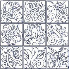 Flowers Quilt Block Set