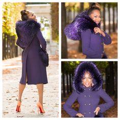Marjorie Harvey wearing Dolce & Gabbana F/W 2014 runway hooded coat