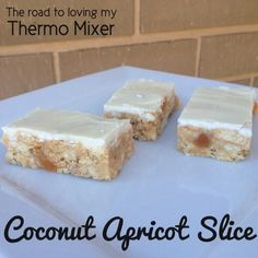 Coconut Apricot Slice - The Road to Loving My Thermo Mixer