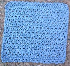 Chain-stitch crochet face cloth pattern