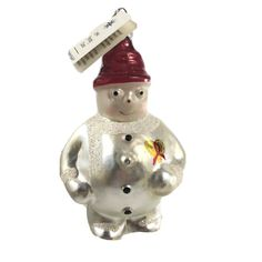 Christopher Radko Frosty Cares Christmas Ornaments 94-SP5-0 #ChristopherRadko Radko Christmas Ornaments, Glass Ornaments, Aids Ribbon, Frosty The Snowmen, Snowman, Christopher Radko Ornaments, Hand Blown Glass, Gold Heart, Poland