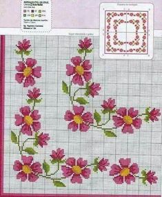 This Pin was discovered by rem Cross Stitch Gallery, Cross Stitch Borders, Cross Stitch Rose, Cross Stitch Alphabet, Cross Stitch Flowers, Cross Stitch Designs, Cross Stitching, Cross Stitch Embroidery, Embroidery Patterns