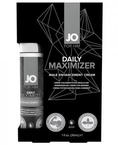 JO for Him Daily Maximizer Male Enhancement Cream 1 fluid ounce. Botanically infused with anitioxidants stimulants for men. Body. From the new line of adult products Sexual Wellness Collection from System JO. JO for Him: Men Maximizer Enhancing Cream is a male enhancement cream designed to improve the appearance of the male organ. Directions: apply cream to entire surface of penis daily. Massage product until fully absorbed into skin. Warning: if irritation or discomfort occurs discontinue…