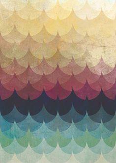 Ginkgo leaf pattern.