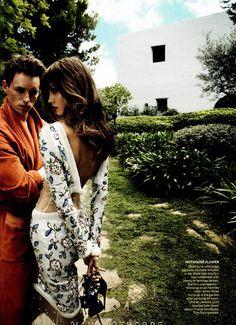 ☆ Eddie Redmayne & Karlie Kloss   Photography by Mario Testino   For Vogue Magazine US   December 2011 ☆ #Eddie_Redmayne #Karlie_Kloss #Mario_Testino #Vogue #2011
