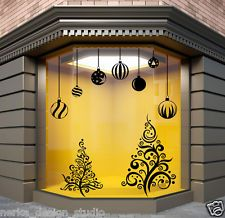 CHRISTMAS WINDOW DECORATION / XMAS TREE  STICKERS / CRISTMAS WALL STICKER /  S61 Christmas Window Stickers, Christmas Window Decorations, Board Shop, Christmas Inspiration, Christmas Ideas, Wall Stickers, Decals, Shop Signs, Xmas Tree