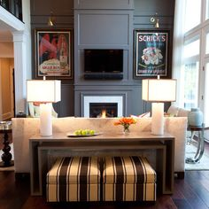 Behind Sofa Console Table Design Ideas, Pictures, Remodel, and Decor
