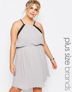 Image 1 of Truly You Eyelet Trim Chiffon Cami Dress
