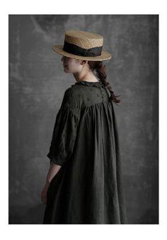 【楽天市場】【送料無料】Joie de Vivre フレンチリネンリアクティブダイブロドリールーシュドレス:BerryStyleベリースタイル Korean Babies, One Piece Dress, Enchanted, Cowboy Hats, Designer Dresses, Sewing, Clothes, Trends, Detail