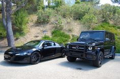 Audi R8 & Mercedes-Benz G63 #blackedout