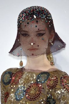 Chanel Couture Fall 2009 Embellished Full Coverage Hats