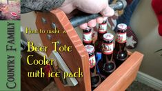 6 Pack Beer Tote Cooler has an ice pack to actually keep your beer cold