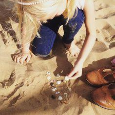 Mini shells on the beach #cleethorpes #september #kidsofinstagram #kidstagram #beachlife #uk #microblogging #bloggingmum #shells #family #explore #sandy #autumnonthebeach
