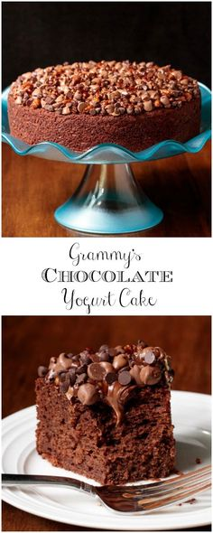 Easy Chocolate Yogurt Cake Need a dessert recipe that's one-bowl, no-mixer and out-of-this-world delicious? Grammy's Easy Chocolate Yogurt Cake is all that and more! via a dessert recipe that's one-bowl, no-mixer and out-of-this-world delicious? Brownie Desserts, Oreo Dessert, Mini Desserts, Coconut Dessert, Easy Desserts, Delicious Desserts, Yogurt Dessert, Quick Dessert, French Desserts
