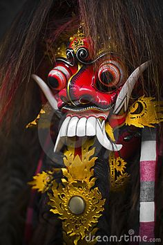 Photo about Traditional ethnic barong mask from bali indonesia, carved from wood. Image of mask, craft, traditional - 10741878 Balinese Tattoo, Barong Bali, Mask Painting, Indonesian Art, Cute Couple Art, Arte Horror, Masks Art, Religious Art, Ancient Art