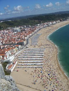 Portugal! Thanks to Andrea for this fantastic picture of Nazare, another must see.  #Portugal #Nazare #travel #tricityliving www.tricityliving.ca