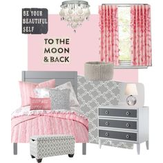 Toddler big girl room. by leslie-craig-aradanas on Polyvore featuring interior, interiors, interior design, home, home decor, interior decorating, ducduc, Heal's, Pier 1 Imports and Sugarboo Designs