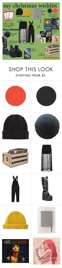 """#PolyPresents: Wish List"" by gothkink ❤ liked on Polyvore featuring Power Rangers, Crosley, Benetton, Demonia, Ohh Deer, Hot Topic, contestentry and polyPresents"
