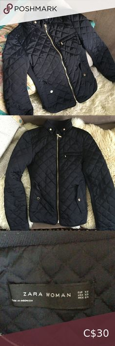 (Gained too much weight, haha) But I think it's quite chic looking. Looks navy in photos, definitely black in person. Zara Jackets, Plus Fashion, Fashion Tips, Fashion Trends, Things To Think About, Things To Sell, Zara Black, Jackets For Women, Coats