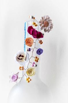Flower Headdress Hair Vine Bridal Hair Flowers by fabtasticflowers