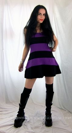 Perfidia Mini Dress by Moonmaiden Gothic Clothing UKSizes 4 to 16/18:  £25.00