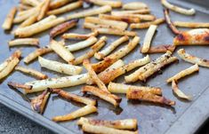 Jicama French Fries - crunchier than potato fries, but better for you and good tasting