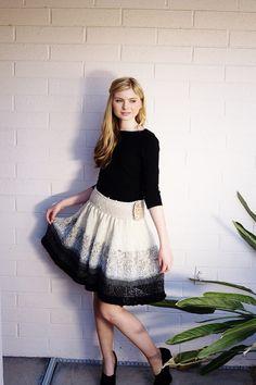 Adorable knit skirt pattern
